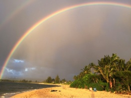 Huge Double Rainbows are not a little chance to appear at all 🌈🌈in the rainbow state Hawaii
